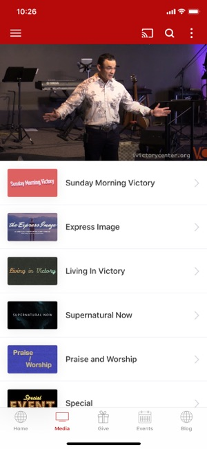 Victory Center Church Screenshot
