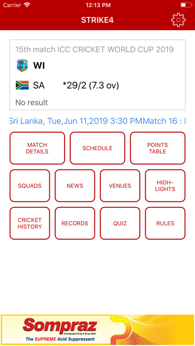 Screenshot of Sompraz STRIKE4 App