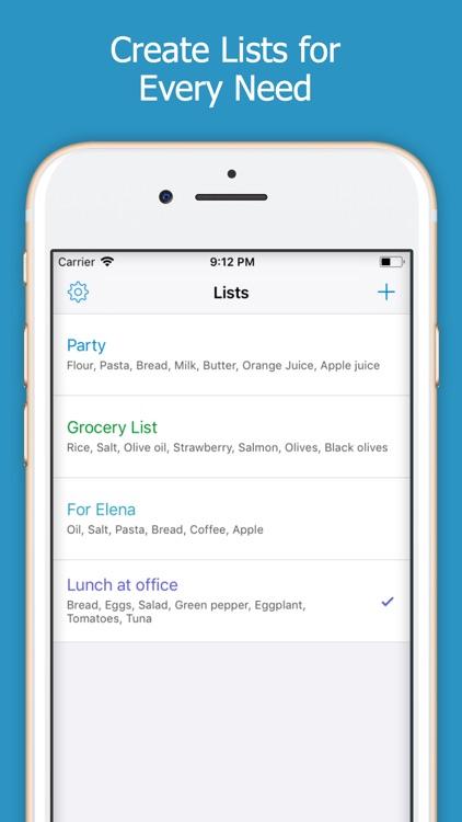 Shoppylist - Shopping List screenshot-3