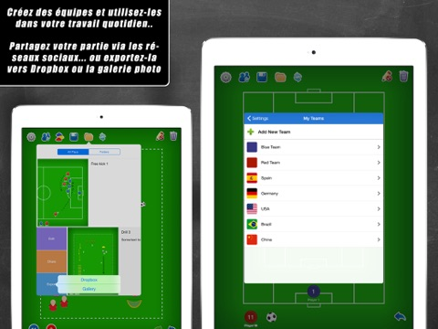 Screenshot #6 pour Planche Tactique: Football++
