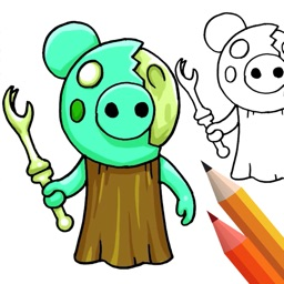 Piggy Coloring And Drawing!