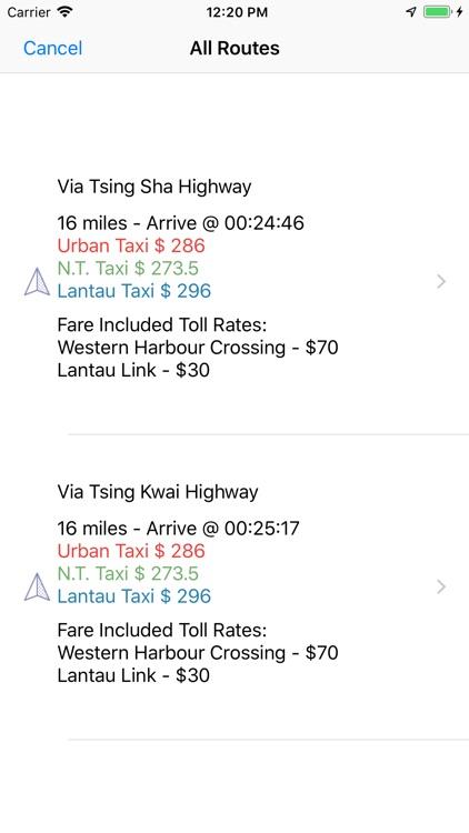 HK Taxi Fare screenshot-4