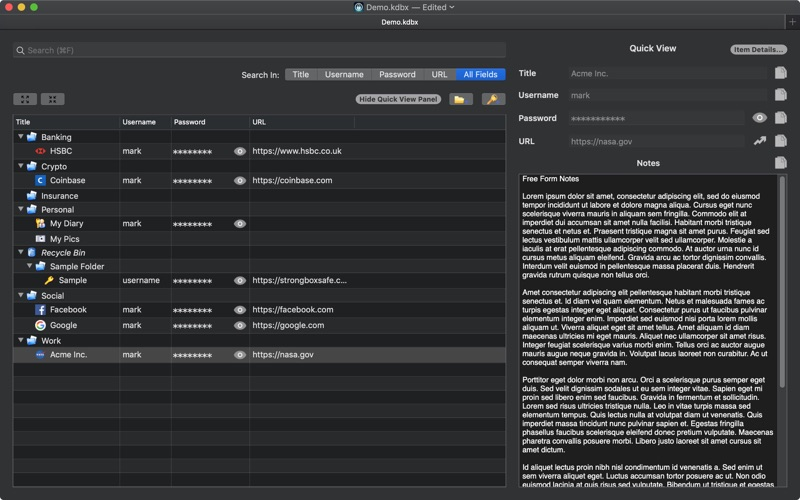 Strongbox Pro (Outright) скриншот программы 2