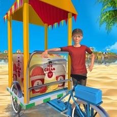 Activities of Frozen Ice Cream Summer Beach