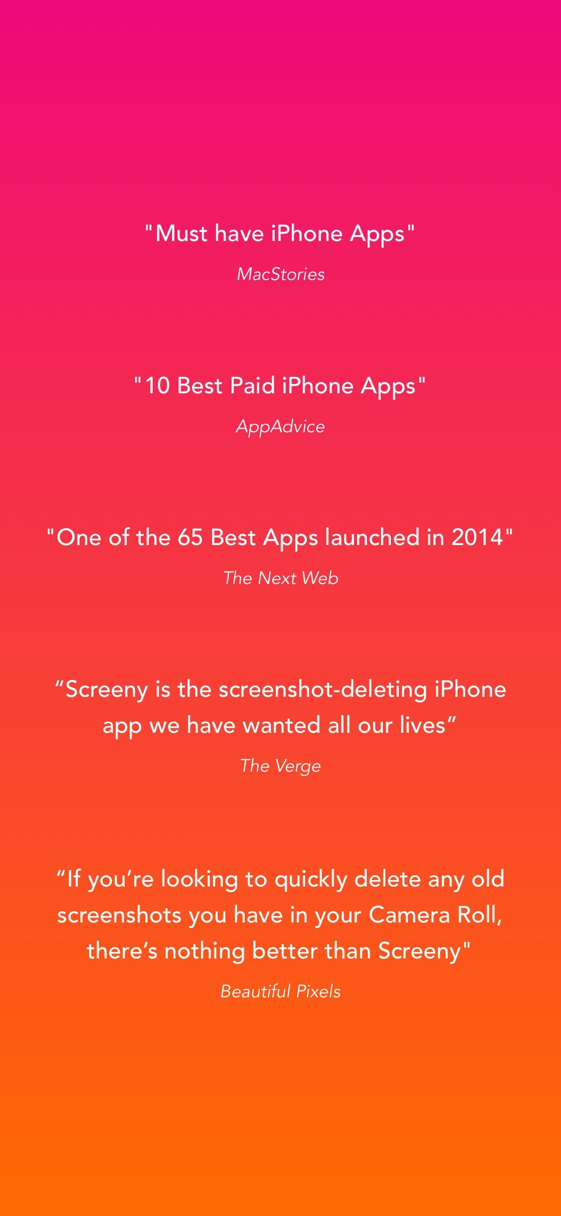 Screenshot do app Screeny 3.0