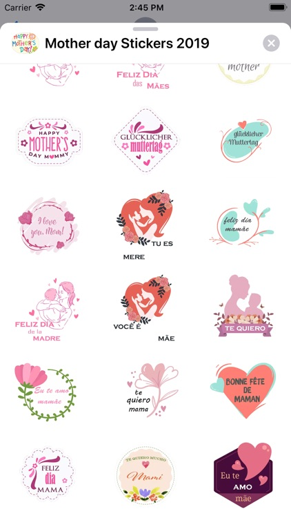 Mother day Stickers 2019 screenshot-4