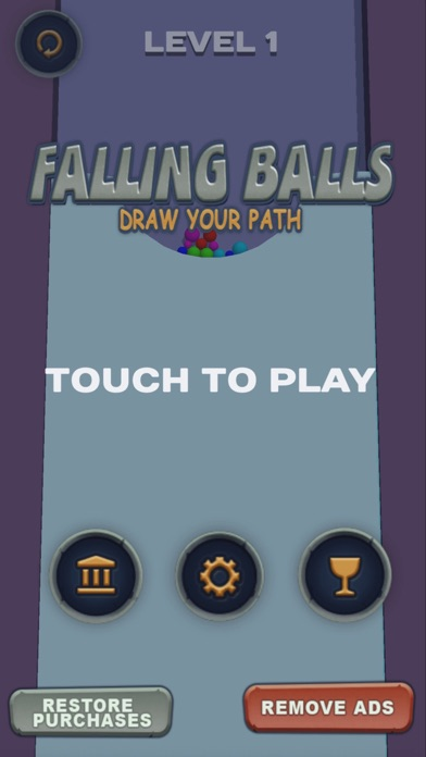 Falling balls: draw the path screenshot #1