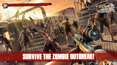Screenshot for Zombie Frontier 3: Sniper FPS in Singapore App Store