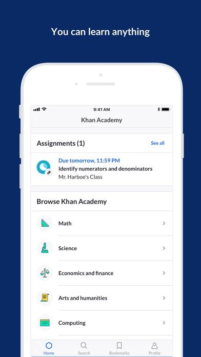 Khan Academy review screenshots