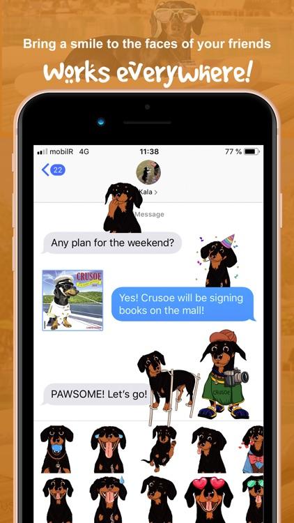 CrusoeMoji - Dachshund sticker screenshot-6