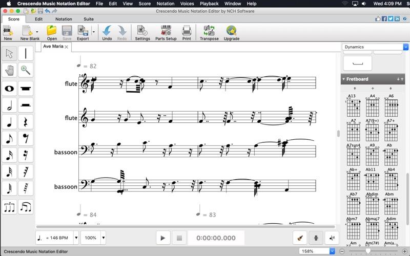 Crescendo Music Notation for Mac
