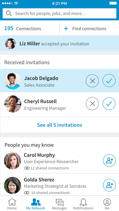 Screenshot for LinkedIn in India App Store