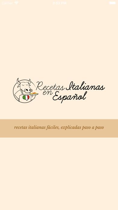Recetas Italianas screenshot one