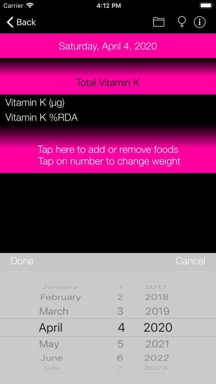 Vitamin K Counter & Tracker