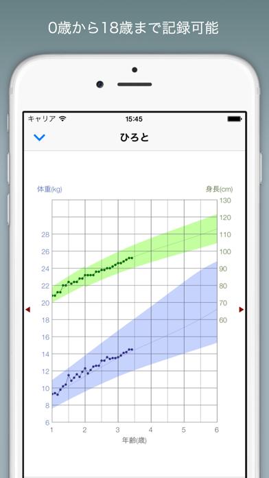 赤ちゃんの成長グラフ ScreenShot0