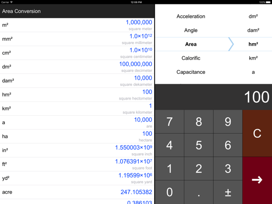 Unit Converter Pro HD. Screenshots