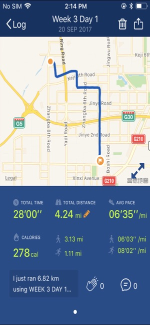 ‎Couch to 5K® - Run training Screenshot