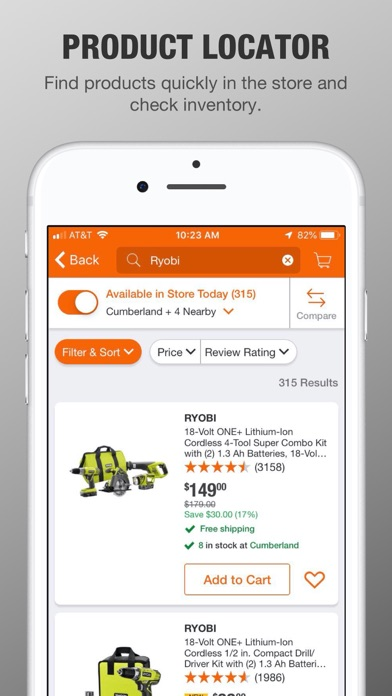 Screenshot for The Home Depot in United States App Store