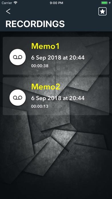 PARROT Audio recorder screenshot three