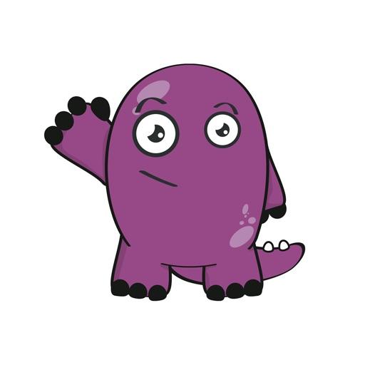 Purple Monster Sticker Pack
