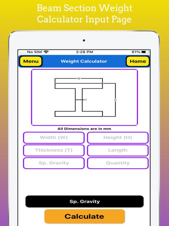 Fabrication Weight Calculator screenshot 14