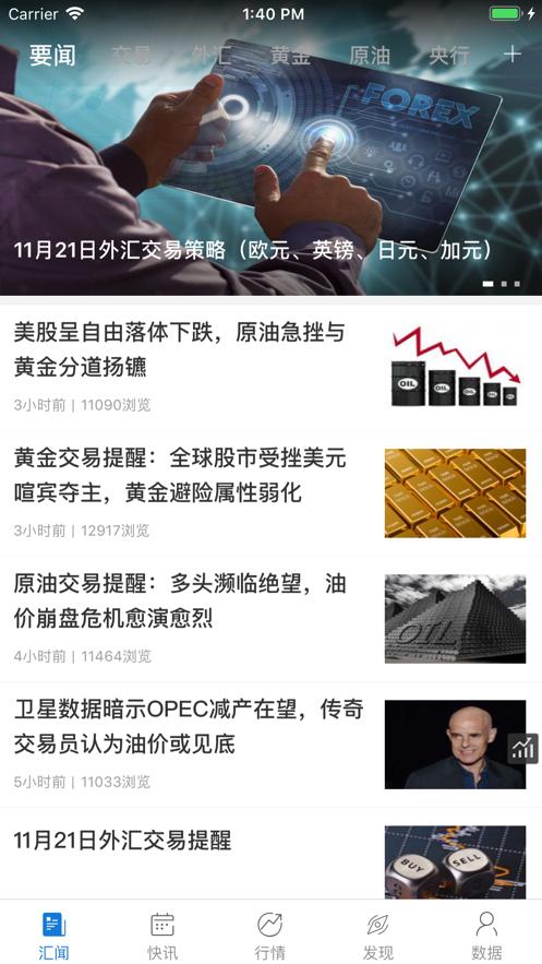汇通财经(专业版) - fx678外汇贵金属首选平台 App 截图