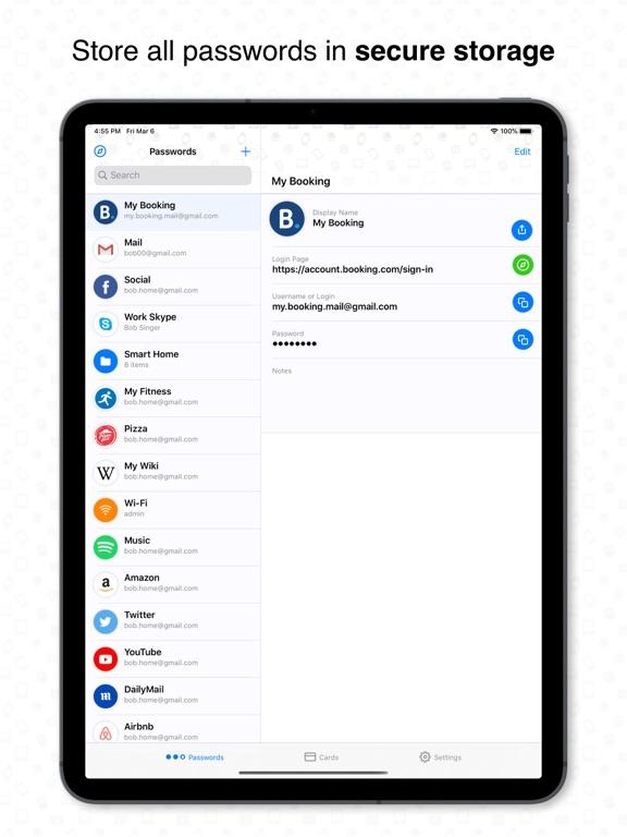 Passwords Keeper - Safe Vault screenshot
