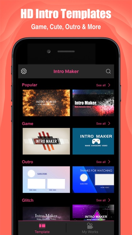 Intro Maker- yt intro designer screenshot-0