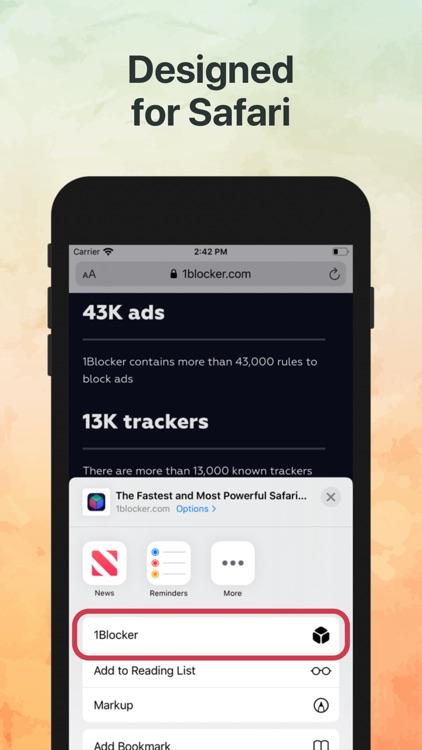 1Blocker: Privacy & Ad Blocker screenshot-4