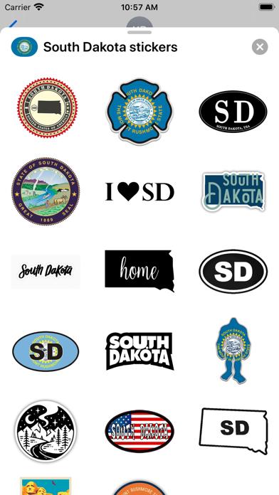South Dakota - USA stickers screenshot 2