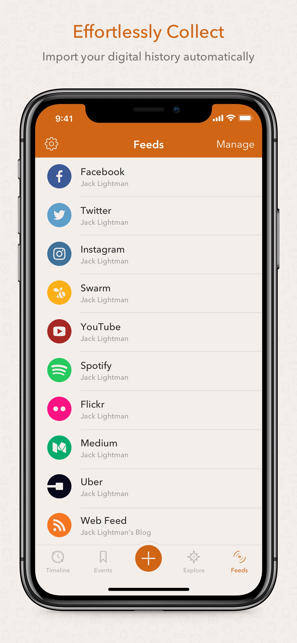 Screenshot do app Momento - Diário Privado