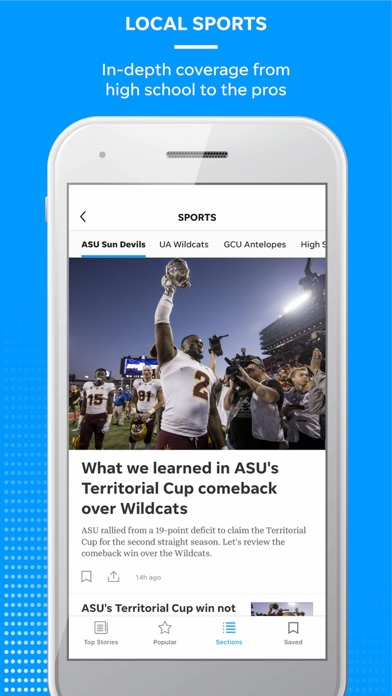 azcentral Screenshot on iOS