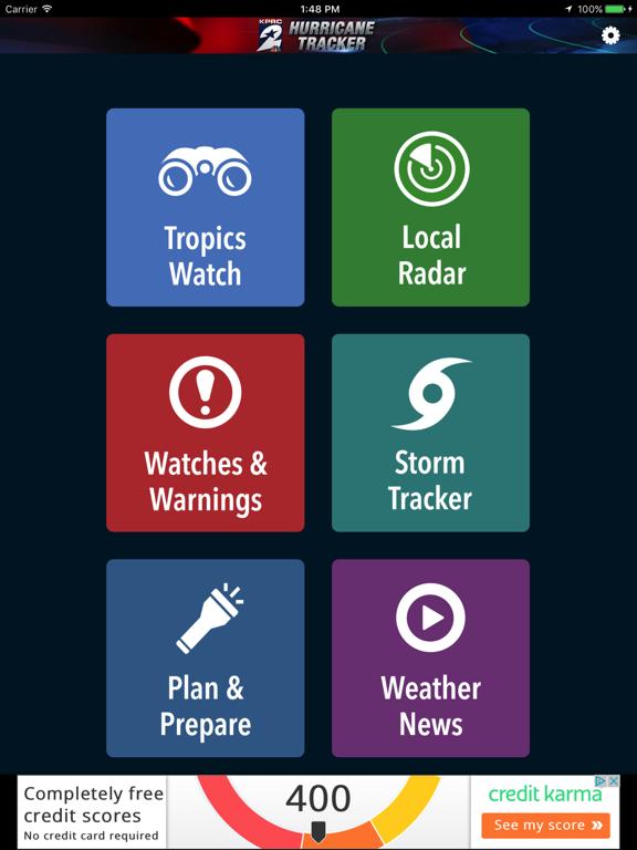 KPRC Hurricane Tracker screenshot
