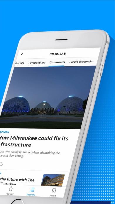 Milwaukee Journal Sentinel Screenshot on iOS