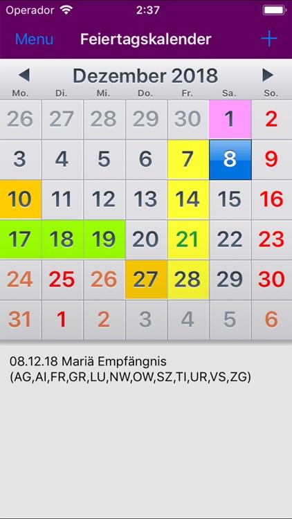 Feiertagkalender