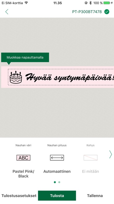 Screenshot for Brother P-touch Design&Print in Finland App Store