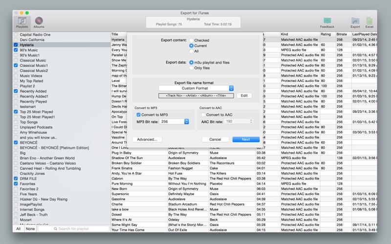 Export for iTunes Screenshot