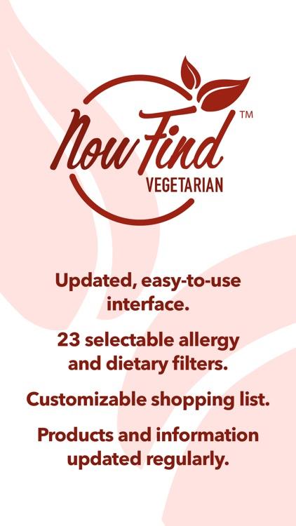 Now Find Vegetarian