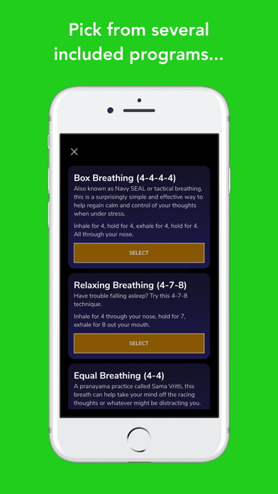 Screenshot for Awesome Breathing: Pacer Timer in South Africa App Store