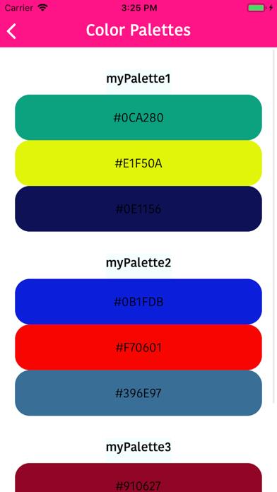 Color Palettes Maker screenshot #2
