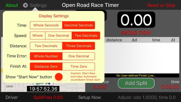 Open Road Race Timer screenshot-4