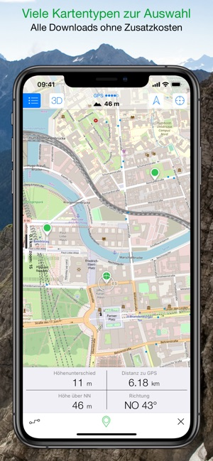 Maps 3D PRO - Outdoor GPS im App Store  D Map Of In on