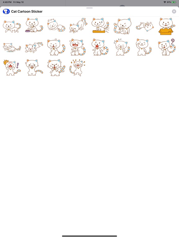 Cat Emoji Sticker screenshot 4