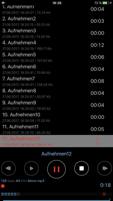 Dictaphone - Audio-RekorderScreenshot von 1