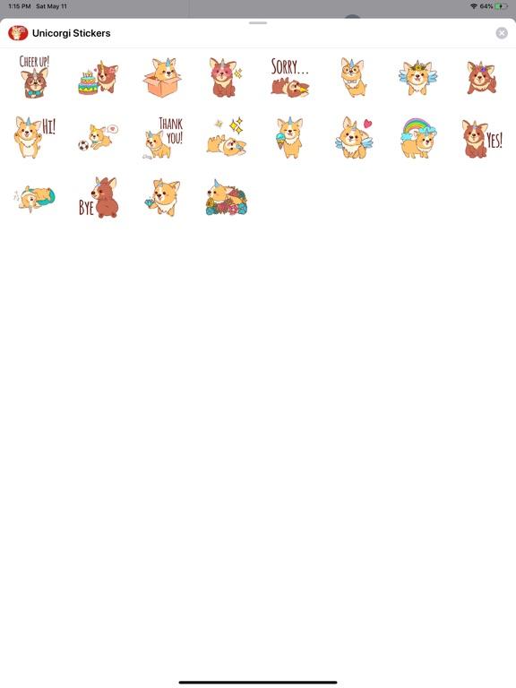 Unicorgi Stickers screenshot 4