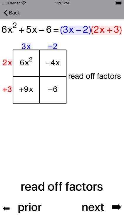 Quadratic Factoring screenshot-6