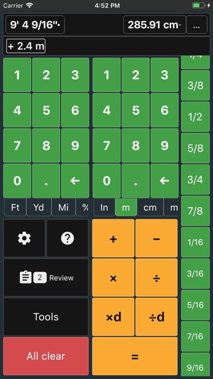 Feet and Inches Calculator screenshot-3