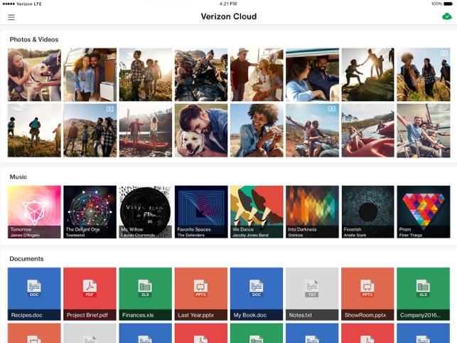 Verizon Cloud on the App Store