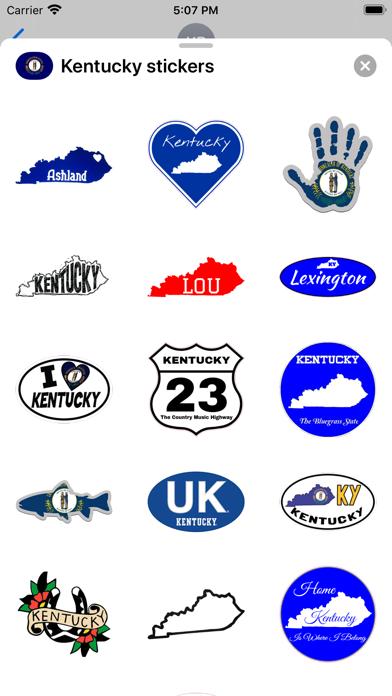 Kentucky emojis - USA stickers screenshot 2