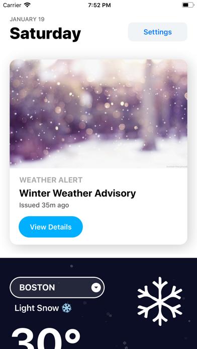 Weather` screenshot one